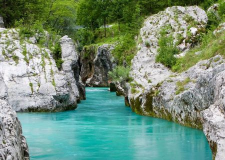 The Soca Valley in Slovenia